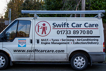 Swift Car Care recovery van
