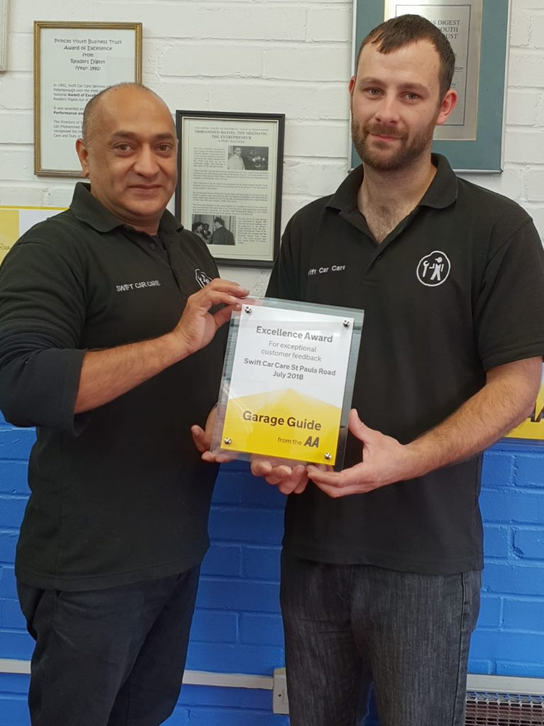 AA Excellence Aware July 2018